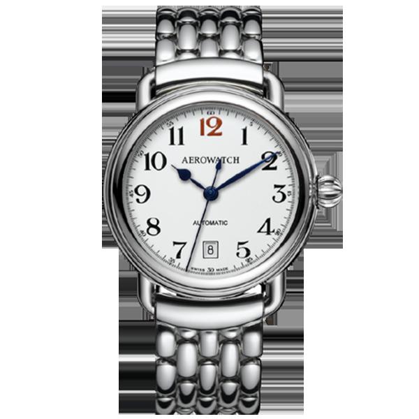 Đồng hồ nam dây thép hiệu Aerowatch